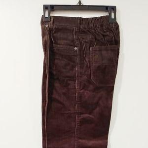 NWT Pants Shay Shaul Corduroy Size 12 Brown